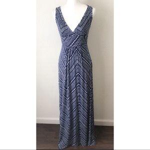 LOVEAPPELLA Stitch Fix Soft Geo Print Maxi Dress S